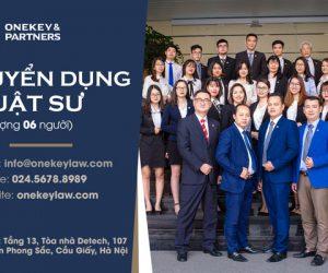 Onekey & Partners tuyển dụng vị trí Luật sư