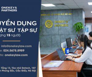 Onekey & Partners tuyển dụng vị trí Luật sư tập sự